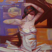 Raul Torres Rojas 'Bailarina' Acrylic on Canvas