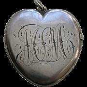Victorian Medium Large Sterling Heart Locket