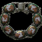 SALE Vintage Satsuma Silver Bracelet