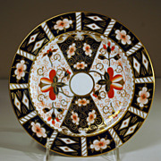 """Salad Plate in Royal Crown Derby's Pattern #2451, """"Traditional Imari"""""""
