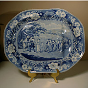 19th Century Well & Tree Platter from the Dr Syntax series