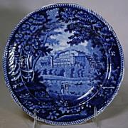 19th Century Staffordshire Dark Blue Transfer Plate