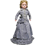 Fabulous Antique C. 1880 Wax Doll with 2 Original Outfits
