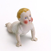 Lovely Crawling All Bisque Baby Doll