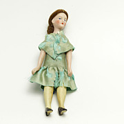Unusual Bisque Head Doll House Doll