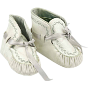 Vintage Baby or Large Doll Leather Booties