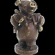 Vintage Bronze Miniature Pig