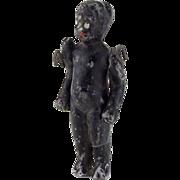 Vintage Black Miniature All Bisque Doll