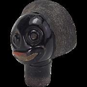 Vintage Glass Head Stopper for Golliwog Perfume Bottle
