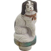 Vintage Bisque Japanese Spaniel Dog Bottle Stopper