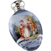Porcelain Romantic Couple Perfume/ Scent Bottle 1904