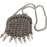 Small Steel Purse on Chain