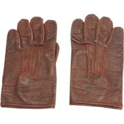 Pair of Vintage Child's Leather Gloves