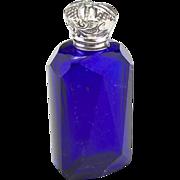 Antique 19th Century Blue Glass Perfume Bottle