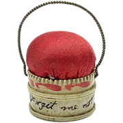 Small Georgian Bone Basket Pincushion-Love Token