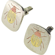 Vintage Chato Castillo Mexican Mixed Metal Cufflinks