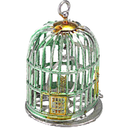 Vintage Soft Metal Doll House Bird Cage