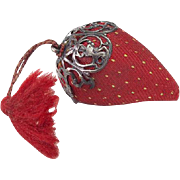 Vintage Strawberry Pincushion