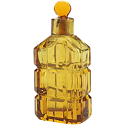 Antique Amber Glass Perfume Bottle-As Is