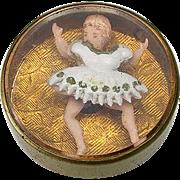 Rare Antique Stud Jiggler Button