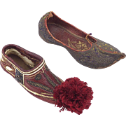 Two Vintage Turkish Slippers-Not Pairs