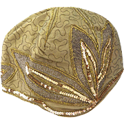 Fabulous 1920's Gold and Silver Thread Cloche Hat