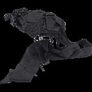 Victorian Black Silk Mourning Hat