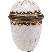 SALE PENDING Antique Enamel Nutmeg Grater Late 18th Early 19th Century
