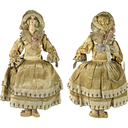 Lovely Set of Handmade Dollhouse Dolls C 1910