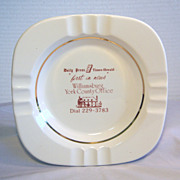 Vintage Daily Press Times-Herald Porcelain Ashtray with Gold Band 1970's