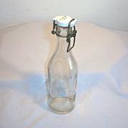 Old VEJLE Sweden Mineral Soda Bottle with Mechanical Porcelain Cap