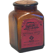 Maccoboy Snuff Bottle in Brown Glass with Original Cork Stopper