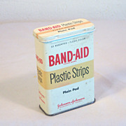 SOLD Classic Band-Aid Tin 1950's