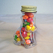 Glass Puppy Dog Candy  Jar 1940's