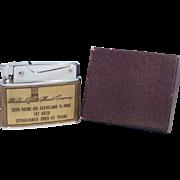 Vintage Japanese Flat Advertiser Pocket Lighter NIB Circa 1975