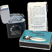 DUR-O-LITER Matchless Friend Advertising Pocket Lighter MIB 1950's