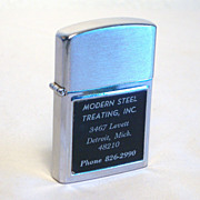 WARCO Modern Steel Treating Advertiser  in Brushed Chrome  Japan 1970's