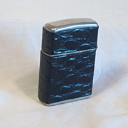 REDUCED CHAMP Windproof Pocket Lighter Austria Wrapped in Alligator Leather 1950's