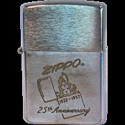 SOLD ZIPPO 25th Anniversary Lighter 1957