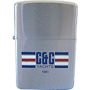 ZIPPO  C & C Yachts  Red, White & Blue 1980