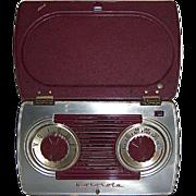 REDUCED Motorola Portable AM Radio in Bakelite and Steel Case 1947