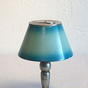 Lamp Cigarette Table Lighter with Blue Shade MIOJ