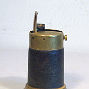 Snap Dragon Table Lighter Brass with Leather Wrap 1920's