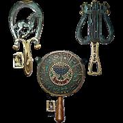 SOLD Three Near Mint, Vintage Brass Trivets from Israel