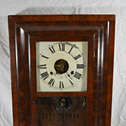 Antique Mahogany Seth Thomas Glass Front Wall Ogee Clock