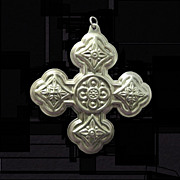 First Reed & Barton 1971 Sterling Christmas Cross