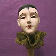 SOLD Deco papier mache PIERROT hat stand