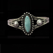 Small Sterling Turquoise Cuff Bracelet
