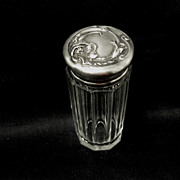 Unger Bros. Sterling/Crystal Vanity jar