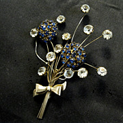 Unique 1940s Sterling Trembler Bouquet